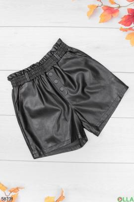 Женские шорты из экокожи