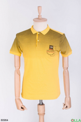 Мужская черно-желтая футболка поло