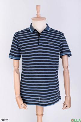 Мужская футболка поло в полоску