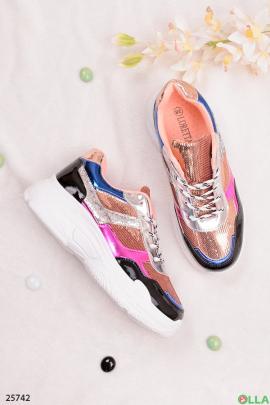 Разноцветные кроссовки с блестками