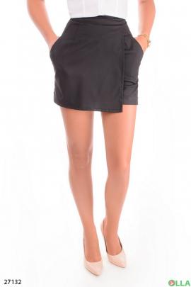 Юбка - шорты черного цвета