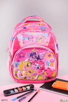Розовый рюкзак с рисунком