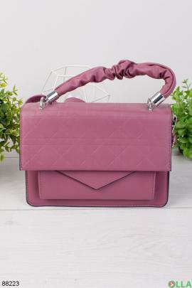 Женская малиновая сумка