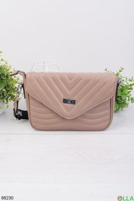 Женская бежевая сумка