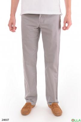 Мужские брюки в мелкую полоску