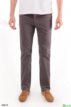 Однотонные мужские брюки