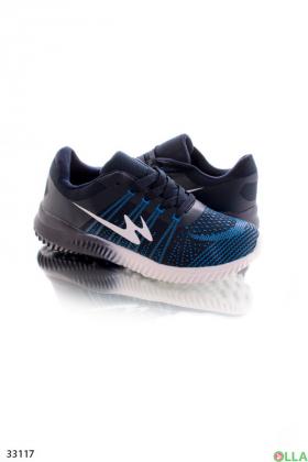 Синие кроссовки из текстиля
