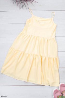 Женский желтый сарафан