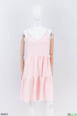 Женский светло-розовый сарафан