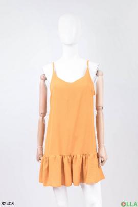 Женский оранжевый сарафан