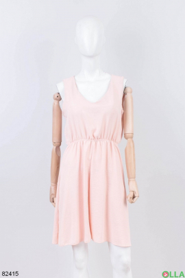 Женский розовый сарафан