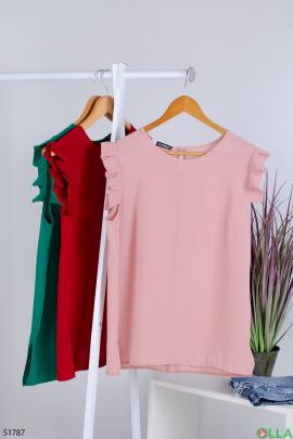 Женская  пудровая  блузка
