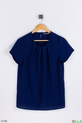 Женская  синяя  блузка