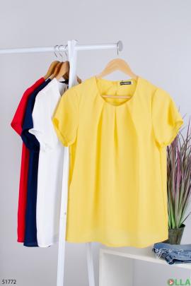 Женская  желтая  блузка