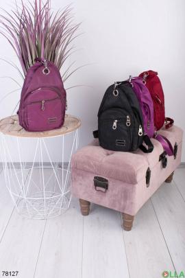 Женский Фиолетовый рюкзак