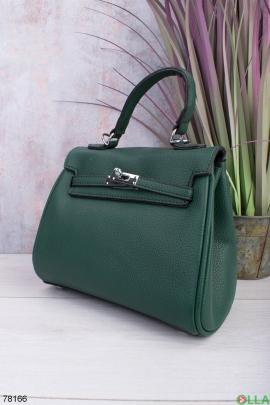 Женская зеленая сумка из эко-кожи