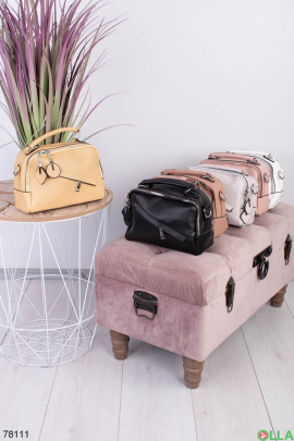 Женская желтая сумка из эко-кожи