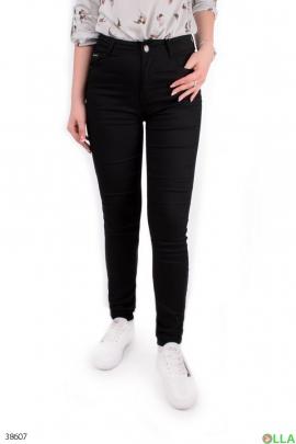 Женские чёрные джинсы