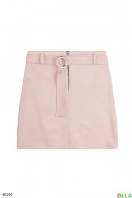 Женская  юбка с накладным карманом