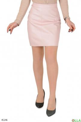 Женская светло-розовая юбка