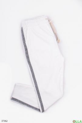 Женские  штаны с лампасом