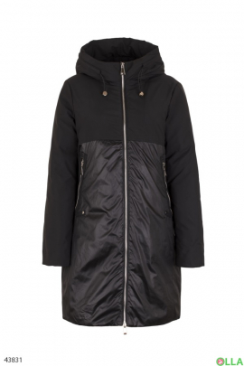 Женская удлиненная зимняя куртка