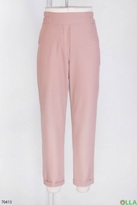 Женские розовые брюки