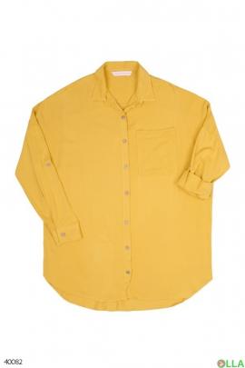 Женская жёлтая рубашка