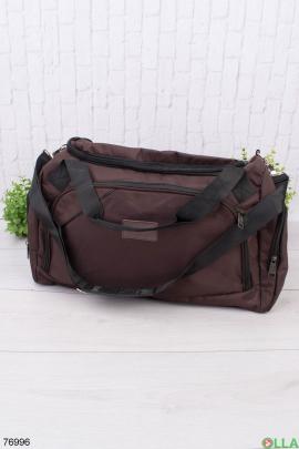 Коричневая спортивная сумка