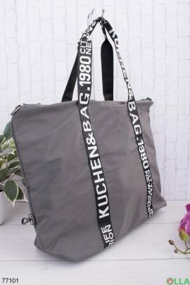 Женская темно-серая спортивная сумка