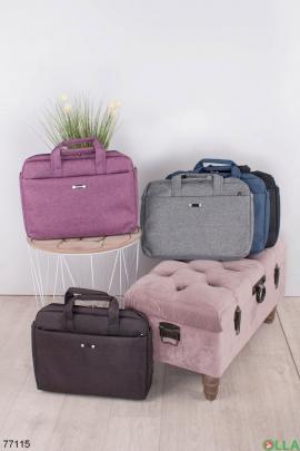 Фиолетовая сумка для ноутбука