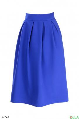 Юбка- миди синего цвета