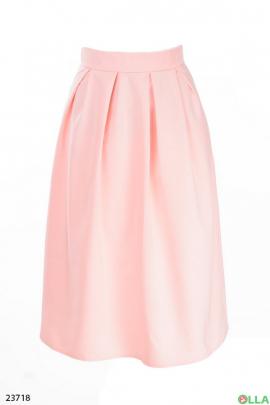 Юбка- миди розового цвета