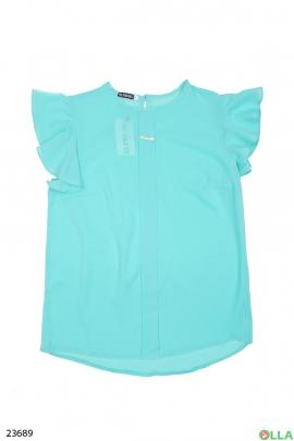 Женская блузка голубого цвета