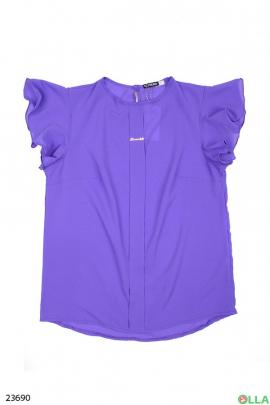 Женская блузка лилового цвета