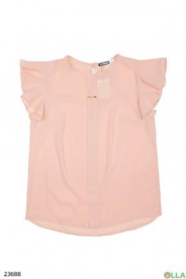 Женская блузка бежевого цвета