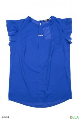 Женская блузка синего цвета