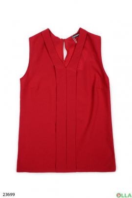 Женская блузка без рукавов