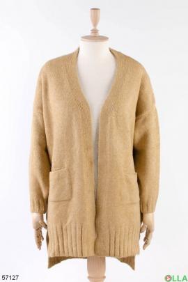 Женская коричневая кофта