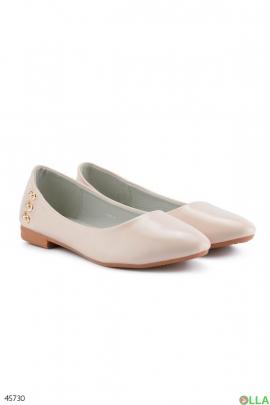 Женские белые балетки