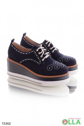 Туфли-криперы на танкетке