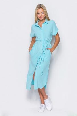 Платье-рубашка с закругленным низом