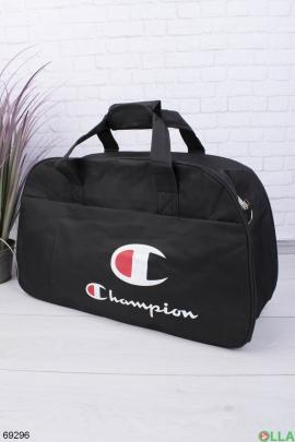 Мужская черная спортивная сумка