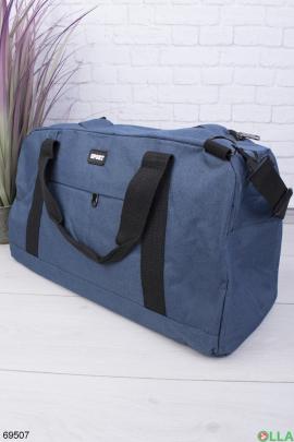 Мужская голубая спортивная сумка