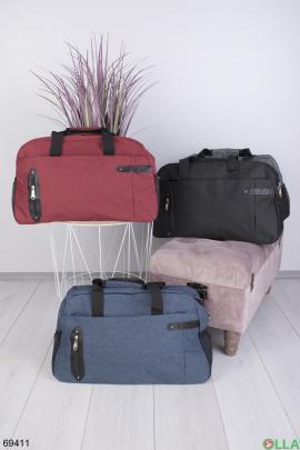 Мужская бордовая спортивная сумка