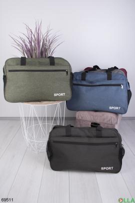 Мужская  спортивная сумка цвета хаки