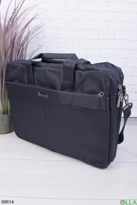 Темно-синяя сумка для ноутбука