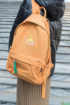 Женский желтый рюкзак с принтом