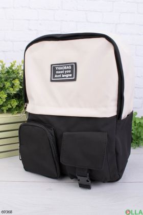 Женский двухцветный рюкзак с принтом