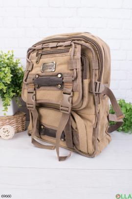 Мужской бежевый рюкзак